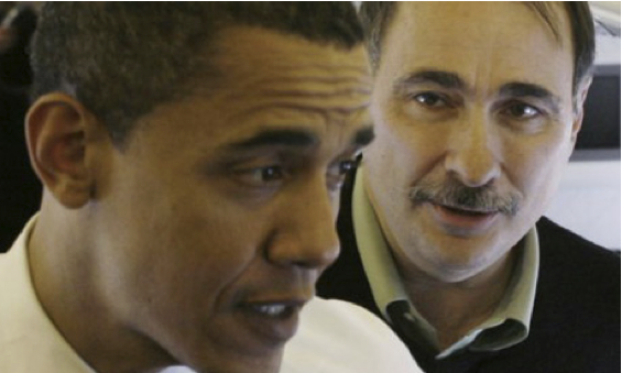 Obama w/ key advisor David Axelrod